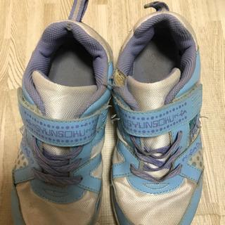 女の子 女児 靴 瞬足 21センチ - 子供用品