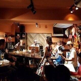 銀座のお洒落なバーの生バンドでハワイアン♪