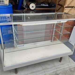 ショーケース ガラス 棚 レトロ什器 店舗什器 タテヤマ