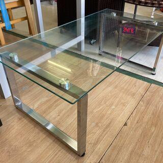ガラステーブル ローテーブル