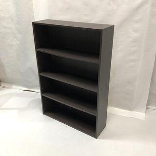 本棚 カラーボックス 4段 ダークブラウン 幅60.5cm 奥行...