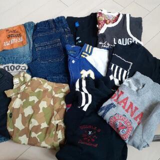 120 男の子(ズボン、トレーナー、Tシャツなど) 1枚50円の画像