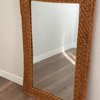 ラタン 鏡