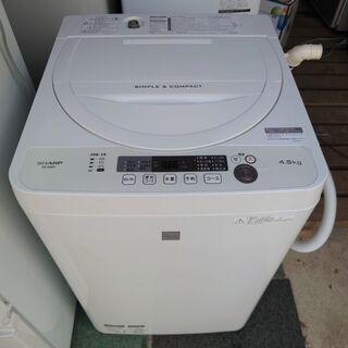 【中古】シャープ 洗濯機 4.5kg洗い ES-G4E5 2018年製