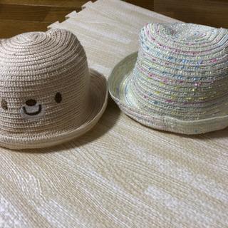 美品✨夏✨かわいい耳型麦わら帽子✨