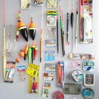 【中古・未使用】釣り具 (糸・うき・針など)色々まとめて①の画像