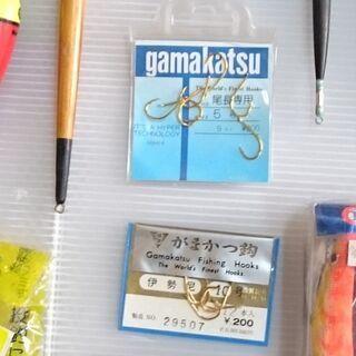 【中古・未使用】釣り具 (糸・うき・針など)色々まとめて① - その他