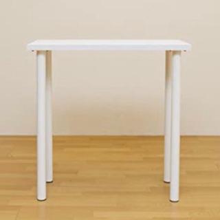カウンターテーブル ホワイト 白 新品同様