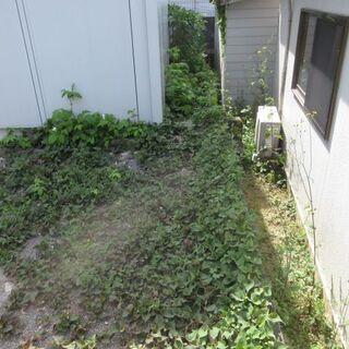 庭の防草工事、福岡。コンクリート打ち、格安