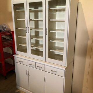 大容量食器棚 ホワイト