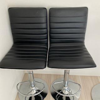 【ネット決済】椅子 ハイチェア 黒