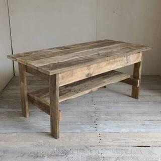 机 ローテーブル 木製 リサイクルウッド・幅100cm アンティ...