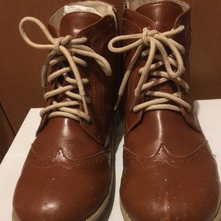 子供用23cm合皮ブーツ