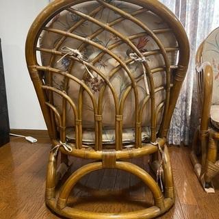 ラタン椅子 2つセット - 家具
