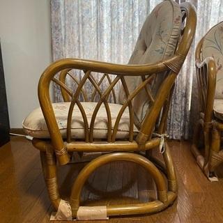 ラタン椅子 2つセット - 仙台市