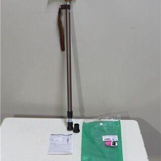 未使用品 0401-SD0002 スリムスライド伸縮杖 ブラウン...
