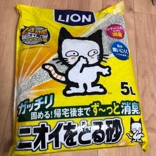 LION ニオイをとる砂 5L×3袋