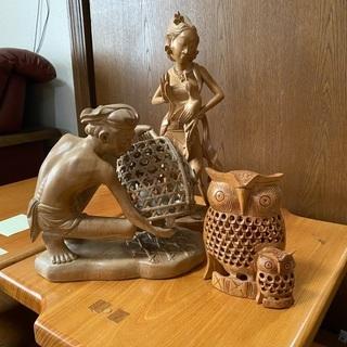 5/4まで 木彫りオブジェ - 仙台市