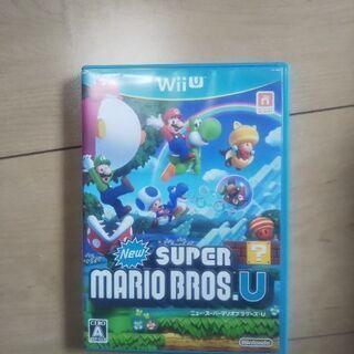 WiiUソフト4本(スーパーマリオブラザーズ、ポッ拳、スプラトゥ...