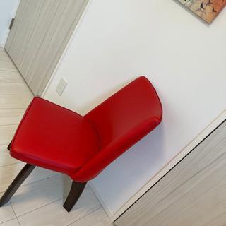 【ネット決済】おしゃれチェア椅子 赤