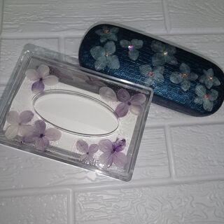 4月26・27・30日 本物の紫陽花で作るメガネケースレッスン ...