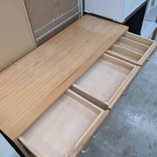 天然木★ エクリー パイン材 キッチンシェルフ 食器棚 キッチンカウンター キッチンボード カップボード − 福岡県