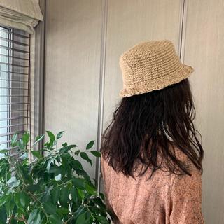 手作り麻のガーリー帽子