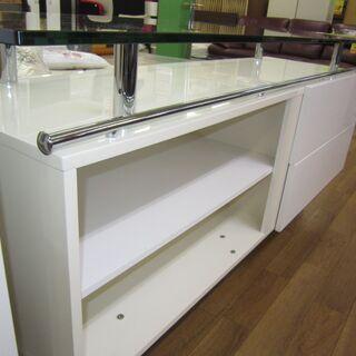 R203 高級感 トップガラスリビングボード、幅180cm - 家具