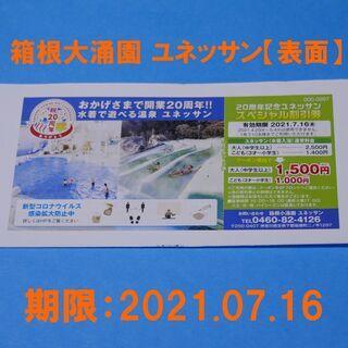 箱根大涌園 ユネッサン 500円〜割引券 1枚