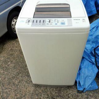 日立 簡易乾燥機能付洗濯機 NW-7JY 7kg 2008年製 中古