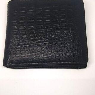 【使用品】折りたたみ財布・黒【メンズ】