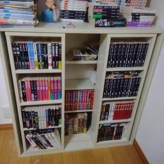本棚 前後2段でたくさん入ります