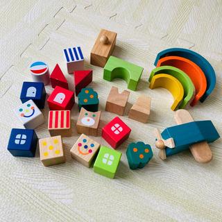 【知育玩具】かわいい カラフル 積み木 セット