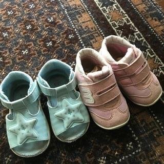 あげます!イフミー12.0cmサンダル /ミキハウス12.5cm靴