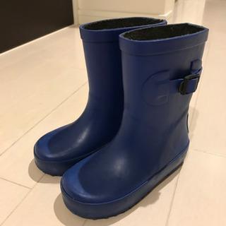 レインブーツ 長靴 キッズ KUT 青 16cm ブルー
