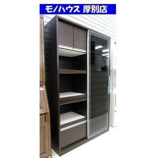 値下げ!!松田家具 レンジボード 幅120×奥48.5×高198...