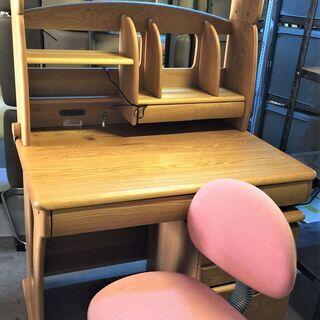 〇学習机&椅子 テーブル イス 家具 勉強机  棚付き 収納机 ...