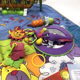 ベビーマット ベビージム プレイマット TINY LOVE ジミニートータルプレイグラウンド 新生児から  補助便座のおまけ付き C - 子供用品