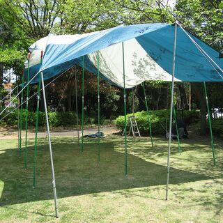 値下 サウスフィールド ターブテント(5mx3m)アルミポール6本付