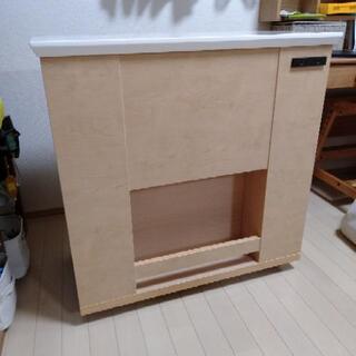 【ネット決済】キッチンカウンター 棚 カウンターテーブル