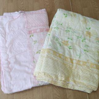 ¥200 まとめ 2枚組 中綿入り 肌掛け 夏掛け 布団 …
