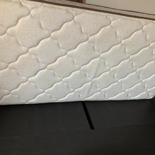 【美品】フランスベッド シングル マットレス フレーム付き - 家具