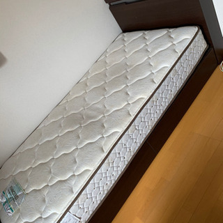 【美品】フランスベッド シングル マットレス フレーム付き − 千葉県