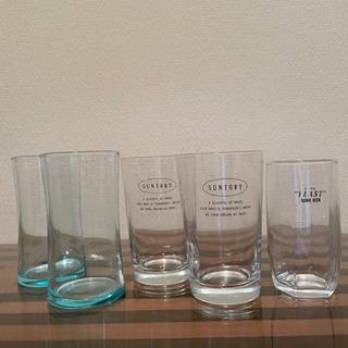 【差し上げます】0円 ガラスコップ5個