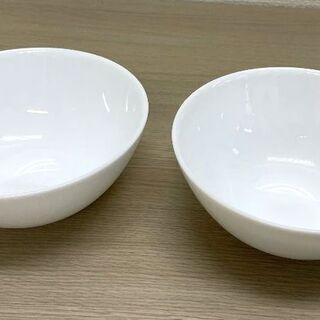 JM10911)ホワイトなボウル 2個 中古品【取りに来られる方限定】