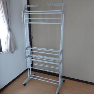 【購入者決定】【美品】早い物勝ち!大容量洗濯物干し 室内干し 物干し - 家具