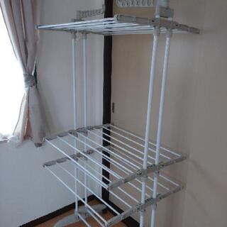 【購入者決定】【美品】早い物勝ち!大容量洗濯物干し 室内干し 物干し - 売ります・あげます
