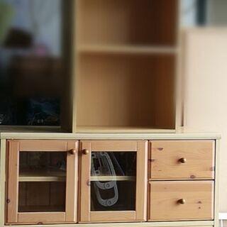 扉付き ウッド 家具 テレビボード 収納
