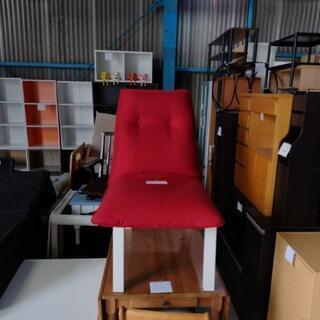 お洒落、赤色座椅子