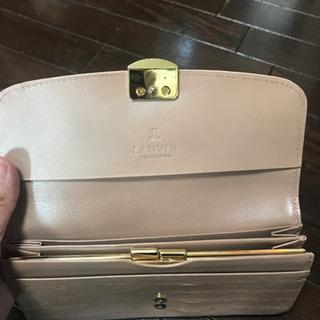 ランバン ピンクベージュ 長財布 - 服/ファッション